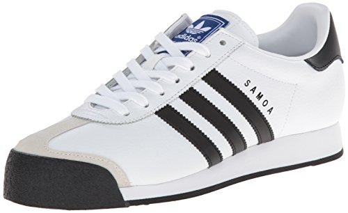 adidas Originals Samoa Retro Sneaker Running Shoe, White/Black, Men's 9.5, Women's 10.5 Medium ()