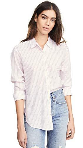 (Xirena Women's Beau Button Down Shirt, Pinque, Pink, Stripe, X-Small)