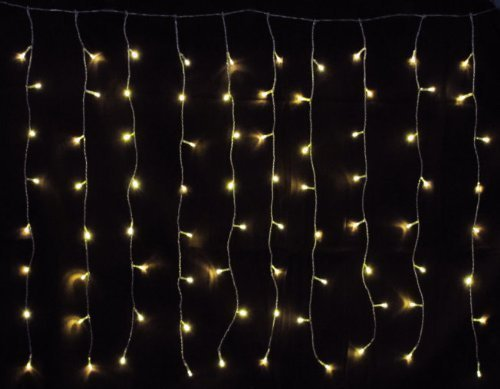 160 er LED Lichtervorhang Außen & Innen Warmweiß Lichterkette