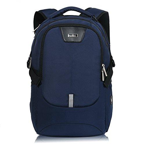 17.3 Inch TSA Friendly ScanSmart Laptop Backpack Waterproof (Black/Blue)(Blue) ()