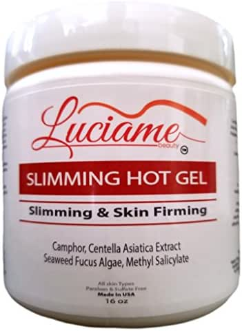 SLIMMING HOT GEL- Cellulite Remover- Belly Fat Burner- Skin Firming- Body Shaper- Apply Hot Cream with Body Wrap for Weight Loss- Firming Loose Skin Lotion- Skin Tightening Cream-Big 16oz -Made in USA
