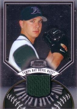 2007 Bowman Sterling Baseball #BS-SK Scott Kazmir Game Worn Jersey Card