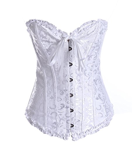 KHC Women Palace Style Floral Sexy Overbust Corset