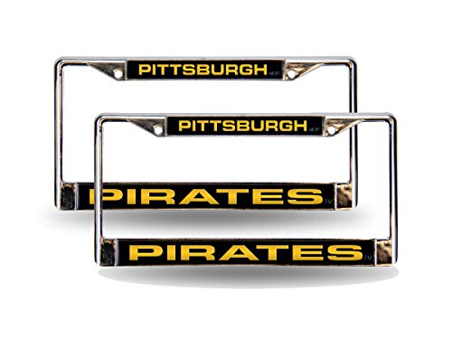 - Rico Pittsburgh Pirates MLB Chrome Metal (2) Laser License Plate Frame Set