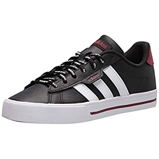 adidas Men's Daily 3.0 Skate Shoe, Black/White/Legacy Red, 14