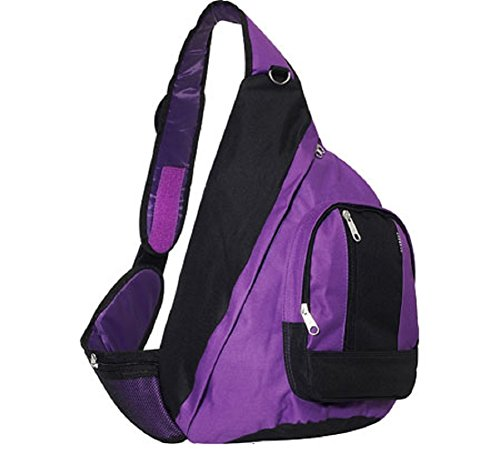 Everest Shoulder Sling Hobo Backpack Messenger Bag PURPLE