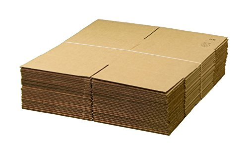 "Pack Of 25 AMERIQUE Corrugated Cardboard Industry Standard Boxes, 14"" Length X14"" Width X14"" Height Each, Tough And Durable, Meets all shipping and moving requirements (Pack Of 25) from AMERIQUE"