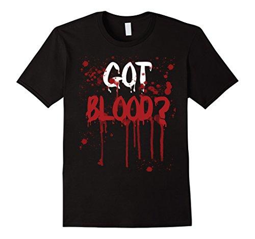 Got Milk Costume (Mens Got Blood? Funny Halloween Costume T-shirt Vampire Tee Small Black)