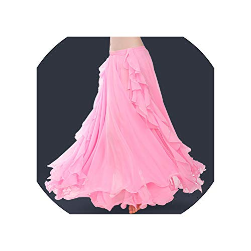 Lady Belly Dancing Skirt Chiffon Large Skirts Gypsy Tribal Rumba Dancing Suit -
