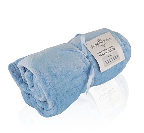 Premium Quality Super Soft Plush Throw Blanket, Warm and Fuzzy Bed Throws|Baby, Toddler and Adult Sizes| Available in: Light Pink, Light Blue, Ivory, Grey, Light Brown & Lavender (30