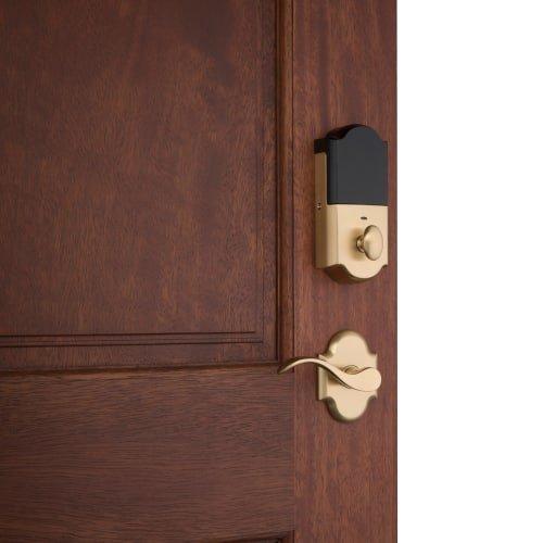Baldwin 85350.BRENT Evolved Manchester Right Handed Single Cylinder Sectional Ha, Lifetime Polished Brass