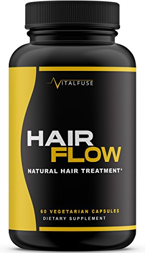 Hair Growth Vitamins Supplement - All Natural Support for Longer & Stronger Hair - Fight Hair Loss with Biotin, Vitamin A, Vitamin B6, Vitamin C and More! Vegetarian Capsules
