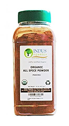 Indus Organics Allspice Powder, 1 Lb Jar, Premium Grade, High Purity, Freshly Packed - Nutmeg Spice