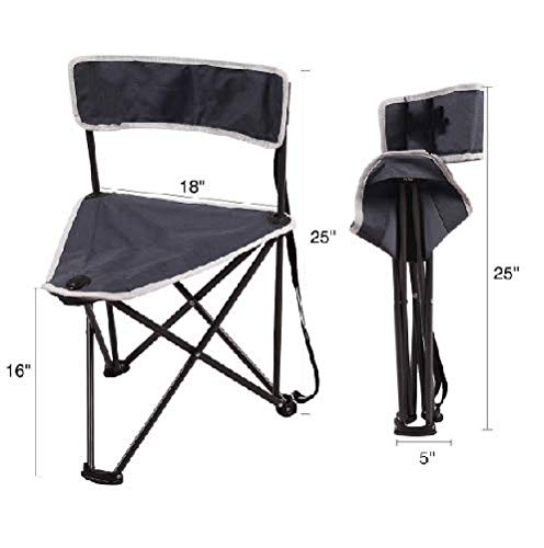 Table & Chair Sets Folding Tripod Chair Backrest for Camping Hunting Blue - Two Stools Model by R-camp (Image #1)