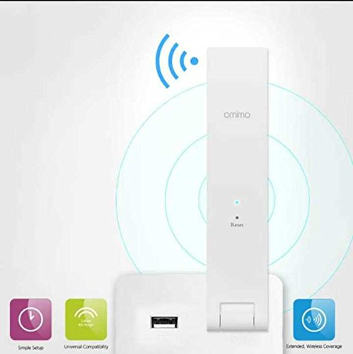 Omimo WiFi Range Extender RP-R1 300M WiFi Repeater Router Extender Wireless Access Point (Power Supply By USB Interface) White