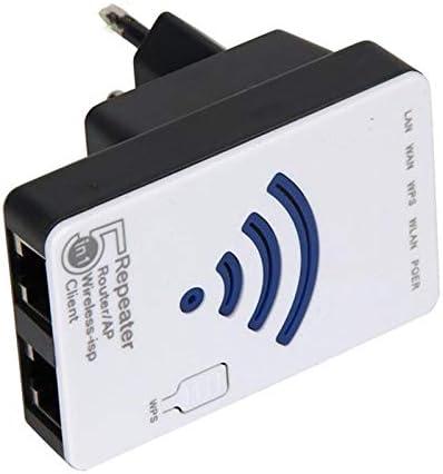 SODIAL 300Mbps 2T2R 802.11b/g/n Mini Router WiFi inalambrico Ap Repetidor Aumentador de presion Expansor (Enchufe de la UE)