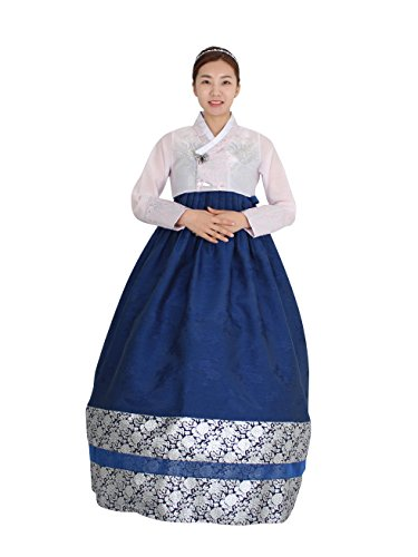 Hanbok Korea Traditional Costumes Women Junior Party Weddings Birthday Special Ceremony co114 (88 (XL) womens top) by Hanbok store
