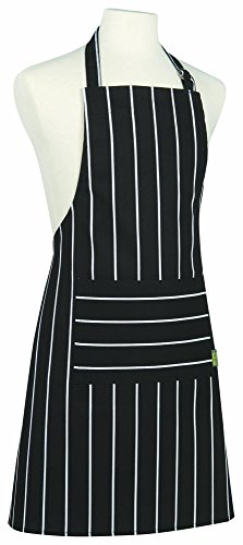 Kitchen Style by Now Designs Basic Apron, Butcher Stripe Black