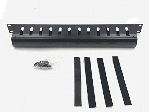 Raising Electronics1U Horizontal Rack Mount Metal Cable Management with Cover