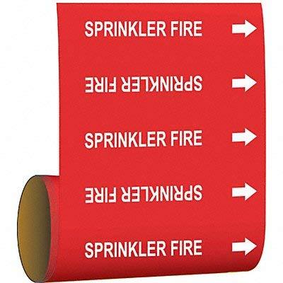 Brady Pipe Marker Sprinkler Fire Red