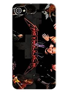 The best selling shock absorption bumper tpu cases/cover with texture for iphone4/4s(American Heavy Metal Metallica) Fashion E-Mall