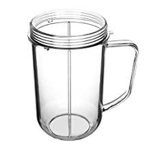 Yesurprise Handled Cup for Magic Bullet Replacement Mug Assembly Parts for 250w Magic Bullet Blender Juicer Mixer MagicBullet