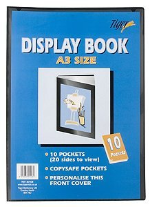 Tiger 10A3Pocket Presentation display Book–nero Tiger Stationery 301426