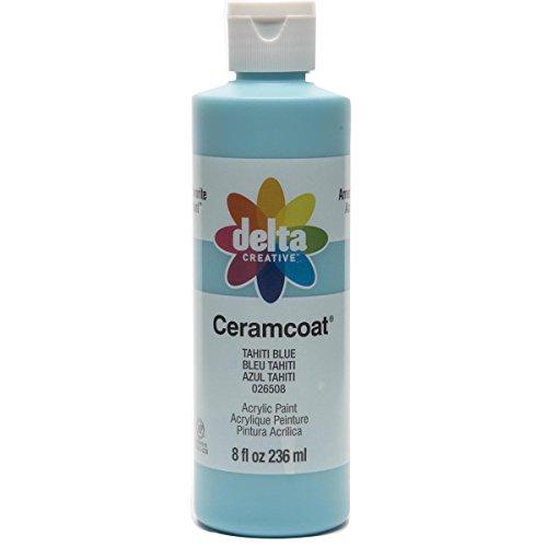 Delta Ceramcoat Acrylic Paint (Delta Creative Ceramcoat Acrylic Paint in Assorted Colors (8 oz), 026508, Tahiti Blue)