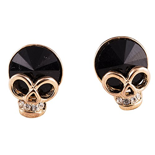 (EVBEA Cute Skull Studs Womens Gothic Cool Skeleton Jewelry Candy Baby Earrings for Girls(203,bk))