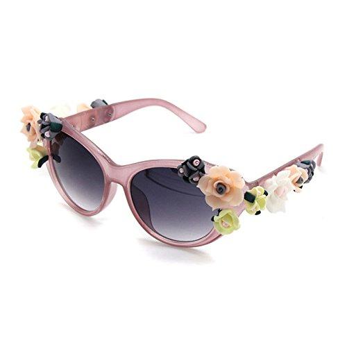 de de Playa Verano 4 Gafas Flower la ZHANGYUSEN Gafas Sol en de Retro Marca Gafas Joyas Sexy 2 Sol 1xSza7wq