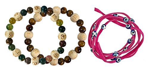 Zorbitz Inc. – Bundle of 2 Karma Beads Bracelets Believed to Deliver Unexpected Miracles and Protection. Included 36
