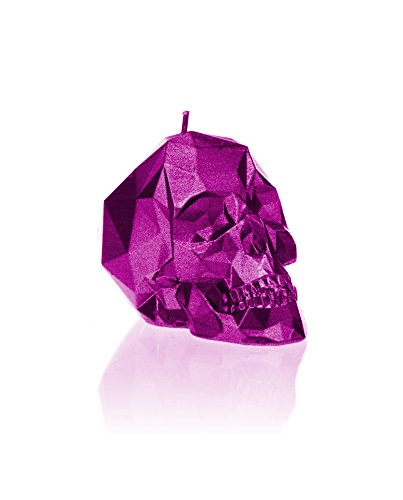 Candellana Candles Small Skull, Pink Metallic