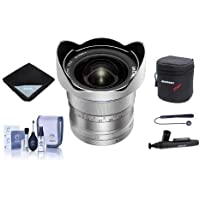 Venus Laowa 12mm f/2.8 Zero-D Ultra-WideAngle Lens for Canon EF Cameras Silver - Bundle With Lens Case, Lens Wrap, Cleaning Kit, Capleash II, Lenspen Lens Cleaner