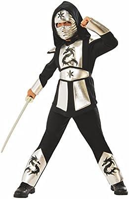 Rubies - Disfraz ninja dragon silver para niño, L 8-10 años ...