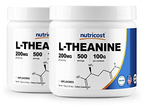 Nutricost L-Theanine Powder 100 Grams 2 Pack