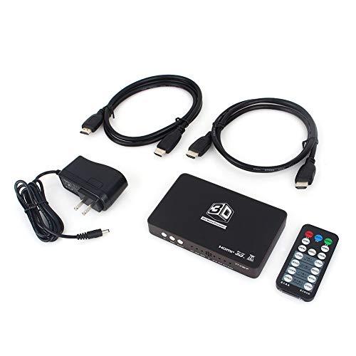 FidgetFidget Cable 2D to 3D Converter 2HDMI 1.4 HD 120Hz Video for Ready DLP Projector w/Controller (Best 2d To 3d Converter Box)
