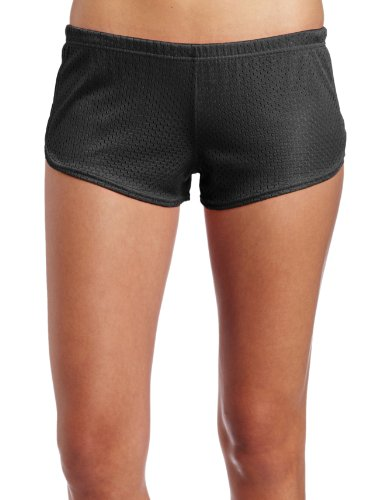 Soffe Juniors Mesh Teeny Tiny Short, Black, Medium (Soffe Mesh)