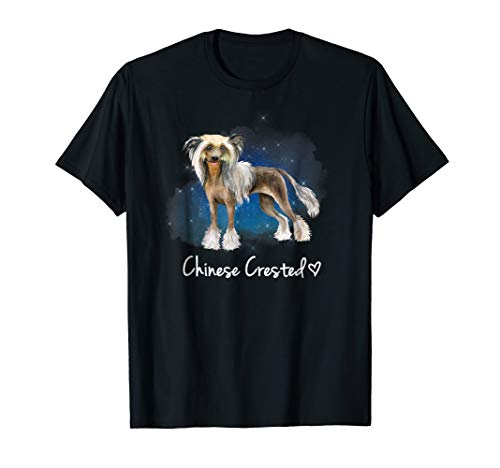 Chinese Crested Dog T-Shirt Dog Lover Gift