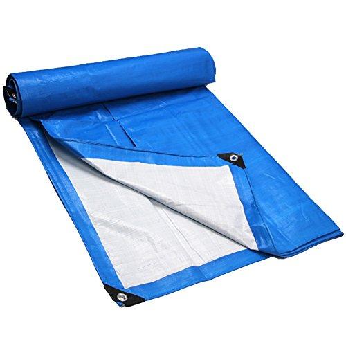 奇妙な科学的手つかずのCHAOXIANG オーニング 厚い 折りたたみ可能 防水 シェード 老化防止 防塵の 軽量 PE 青、 180g/m 2、 10サイズ (色 : 青, サイズ さいず : 4x6m)