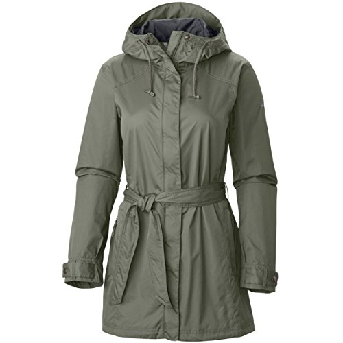 Columbia Women's Pardon My Trench Rain Jacket Outerwear, Cypress, S (Performance Rain Jacket)
