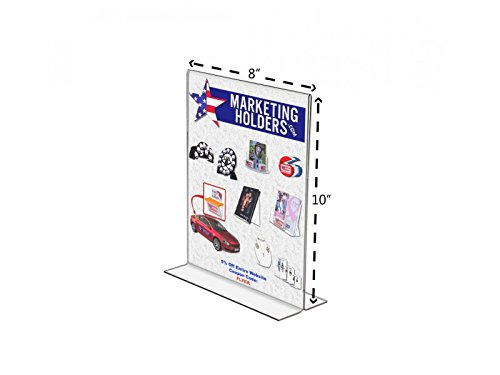 FixtureDisplays 24-pack Clear Acrylic Table Tent 8