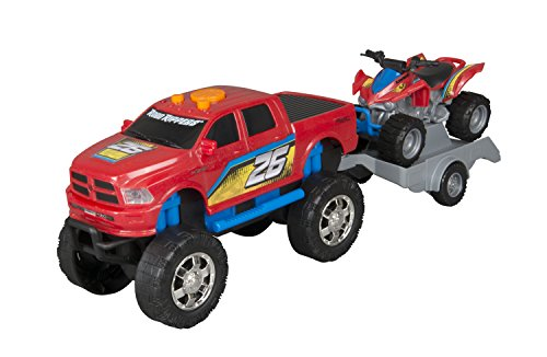 (Toy State Road Rippers Light And Sound Sport Trailer: Dodge Ram With ATV (Styles May)