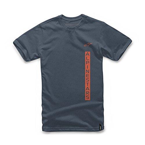 Alpinestars Men's Modern Fit Short Sleeves 146 GSM Motorsports T-Shirt, Vert Navy Heather, (Alpinestars Tee)