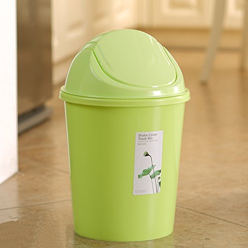 Creative Kitchen Trash Can Trash Can Sitting Room Trash Bins Bedroom With  Swing Lid Waste Container (Green)
