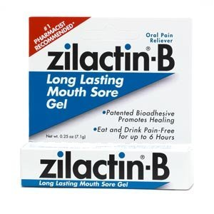 - Zilactin-b Oral Pain Reliever Mouth Sore Gel, - 0.25 Oz, 4 Pack by Zilactin B