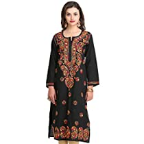 ADA - Hand Embroidered Lucknow Chikan Kurtis & Tops from 499 - 2499