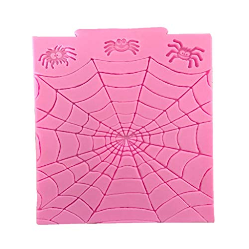 Danyerst Halloween Spider Web Silicone Mold, DIY Candy Cookies Chocolate Cake Fondant Mould, Kitchen Baking Tool -