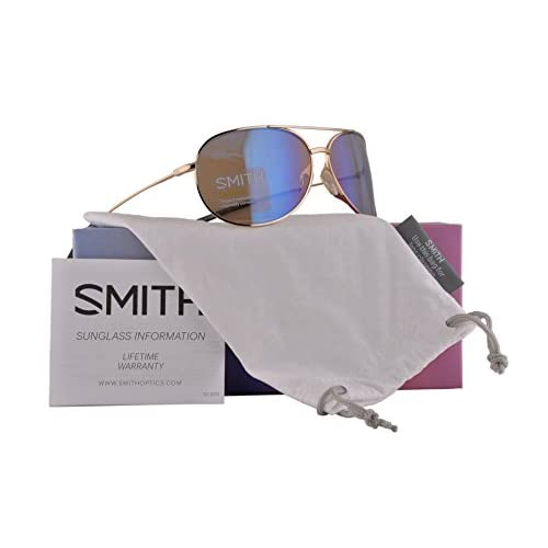 9f0fa13ee0 cheap Smith Rockford Slim Sunglasses Gold w Blush Flash Mirror Lens ...
