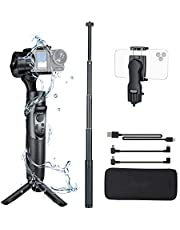 Gopro Gimbal Hohem iSteady Pro 2 Kit with Mobile Phone Holder and Extension Rod 3 Axis Hand Stabilizer for Gopro 7/6/5/4/3 for Osmo Action Camera, for Action Cameras, Super Light for Vlgger (iSteady Pro 2 Kit)
