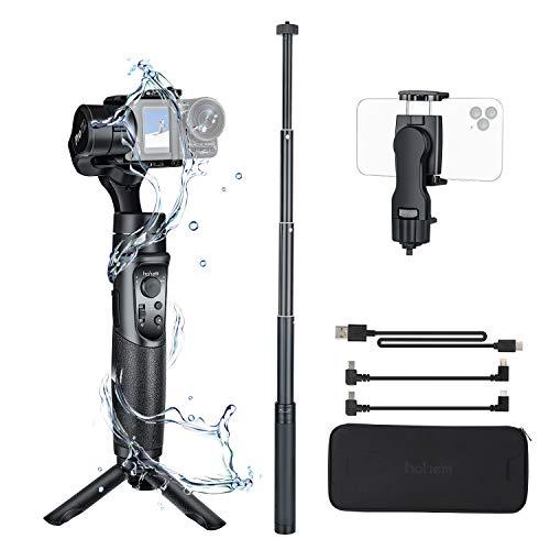 Hohem GoPro Gimbal Stabilizer, iSteady Pro 2 Kit with Phone Holder & Extension Rod, 3 Axis Splash-Proof Gimble IP64, for DJI Osmo Action,GoPro Hero 7/6/5/4/3,SJCam,YI 4K Action Camera (Pro 2 Kit)